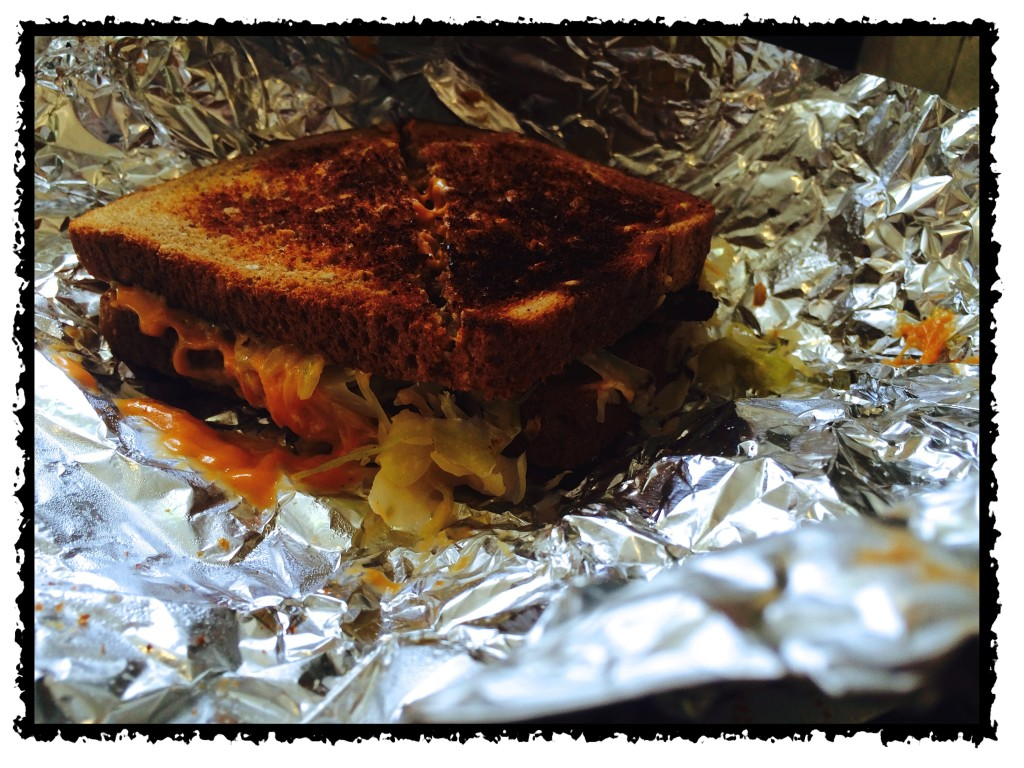 Not the prettiest sandwich, but very tasty!
